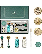Joyeee Arts Crafts Wax Melts Wax Seal Stamp Kit for Custom Stamp, Wax Stamp Metal Stamping Kit, Sealing Wax Stationary Supplies for Christmas
