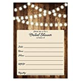Rustic Bridal Shower Invitations with Envelopes (Pack of 25) Wood & Lights Fill In Bridal Shower Invites Excellent Value Wedding Party Invitations VI0007B