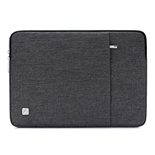 """NIDOO 15.6 Inch Laptop Sleeve Case Water-Resistant Protective Cover Portable Computer Carrying Bag Pouch for 15.6"""" Notebook / 15.6"""" Lenovo Yoga 720 IdeaPad 310 320 ThinkPad T570, Dark Grey"""