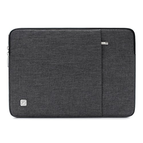 NIDOO 12.5-13.3 Inch Laptop Sleeve Case Water Resistant Protective Portable Notebook Carrying Bag for New 13 MacBook Pro Touch Bar/13.3 Lenovo Yoga 720/12.9 iPad Pro, Dark Grey