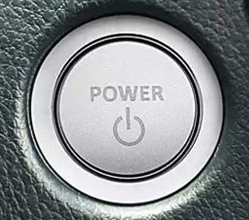 FFZ Parts 7547 Start Stop Ring Cover Aluminium Silver Suitable for Toyota Corolla RAV4 Pirus Avensis Camry C-HR Yaris