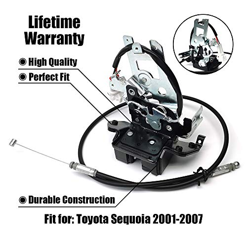 Liftgate Lock Latch,Rear Lift Gate Lock Latch Actuator Hatch Tailgate Latch 931-861 with Cable Assembly For 2001-2007 Toyota Sequoia
