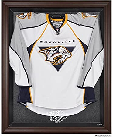 Amazon.com : Nashville Predators Brown Framed Logo Jersey Display ...