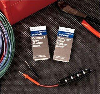 Thomas & Betts WCMB-0-9 Wire Marker Cards, Vinyl Cloth, 1/4 x 1-1/2 Marker Size, Legend 0-9, ABC, (Pack of 20)