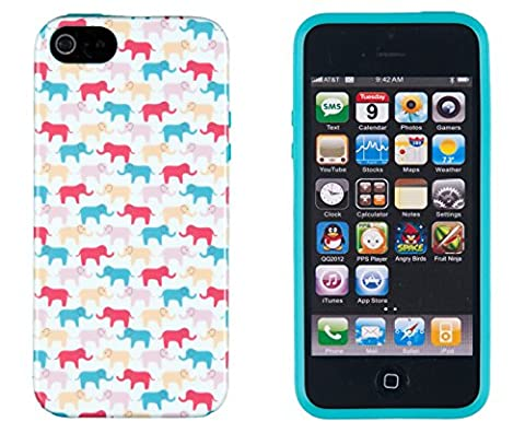 iPhone 4S Case, DandyCase PERFECT PATTERN *No Chip/No Peel* Flexible Slim Case Cover for Apple iPhone 4S / 4 - LIFETIME WARRANTY [Colorful (Iphone 4 Case Preppy)