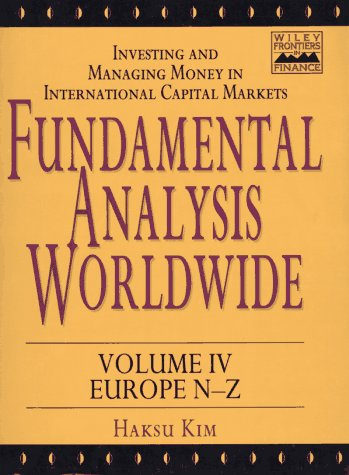 Fundamental Analysis Worldwide, Western Europe N-Z (Wiley Frontiers in Finance) (Volume 4)