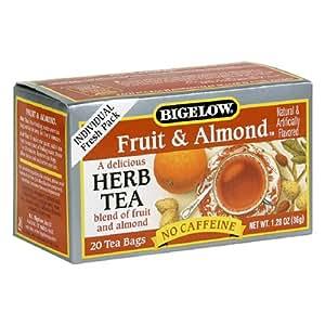Bigelow Fruit & Almond Herbal Tea, 20-Count Boxes (Pack of 6)