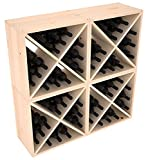Wine Racks America Ponderosa Pine 96 Bottle Wine Cube. Unstained For Sale