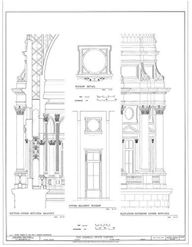 Historic Pictoric Blueprint Diagram HABS GA,61-ATLA,3- (Sheet 31 of 52) - Georgia State Capitol, Capitol Square, Atlanta, Fulton County, GA 11in x 14in