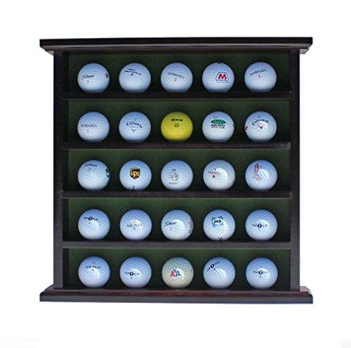 Golf Ball Display Case Wall Cabinet No Door Holds 25 Balls