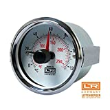 Leitenberger Heating Thermometer and Thermostats 04.11 Stainless Steel Case U-clamp for Pizza Oven Grill and Bred Oven (D.100 +32° F to +240° F)