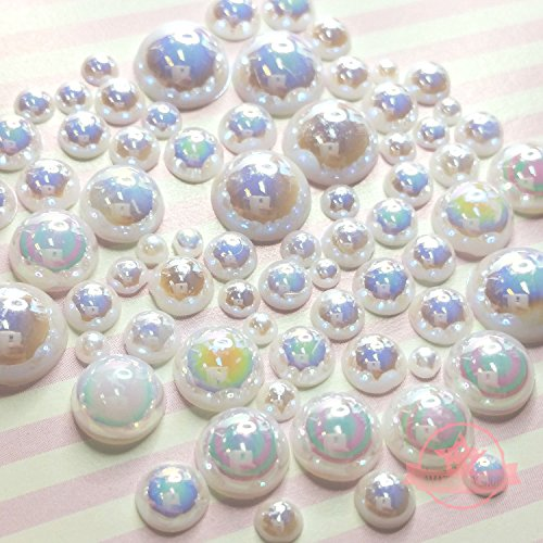 resin pearl cabochons - 1