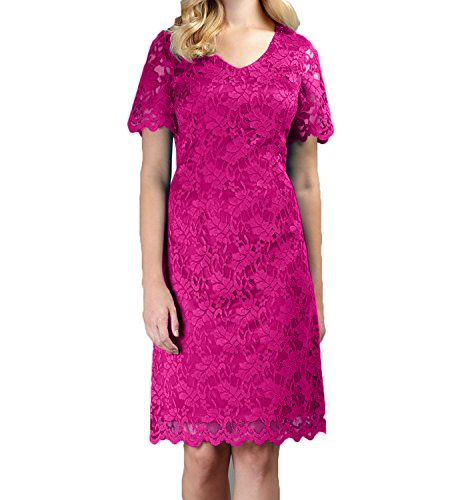 Blau Brautmutterkleider Neu Etuikleider Pink Langarm Damen Glamour Spitze Knielang Charmant Abendkleider qCFwcgqE