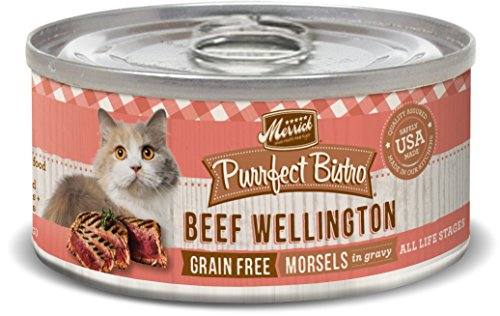 Merrick Purrfect Bistro Grain Free, 5.5 oz, Beef Wellington,