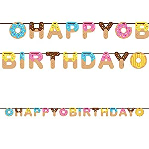 Donut Happy Birthday Ribbon Banner (1 ct) by Creative Converting