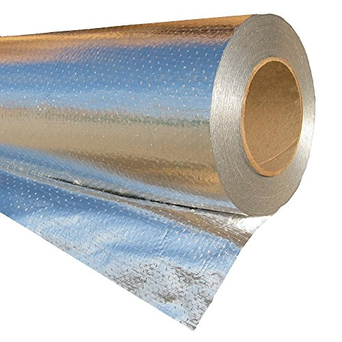 RadiantGUARD XTREME Radiant Barrier INDUSTRIAL Grade 1000 sq ft roll | 48-inch by 250-feet | Xtr-1000-B | Metalized Aluminum Breathable Reflective Attic Foil House Wrap Insulation - BLOCKs 95% of Heat ()
