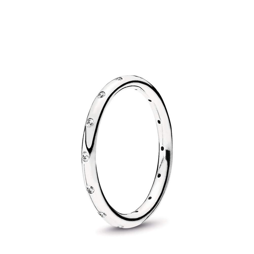 PANDORA Droplets Ring, Sterling Silver, Cubic Zirconia, Size 7