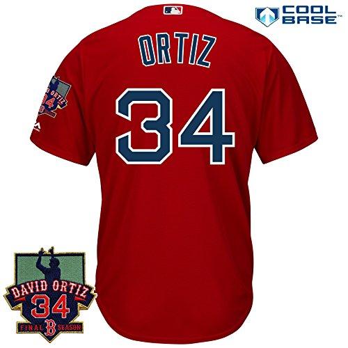 David Ortiz #34 Men's Jersey