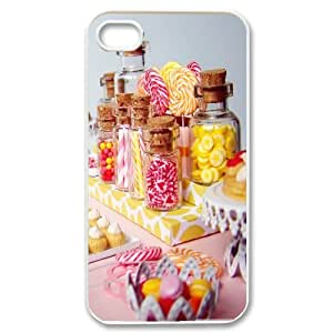 Nuktoe Candy IPhone 4/4s Cases Miniature Candy Dessert Table for Women, Iphone 4s Cases for Girls for Women [White]