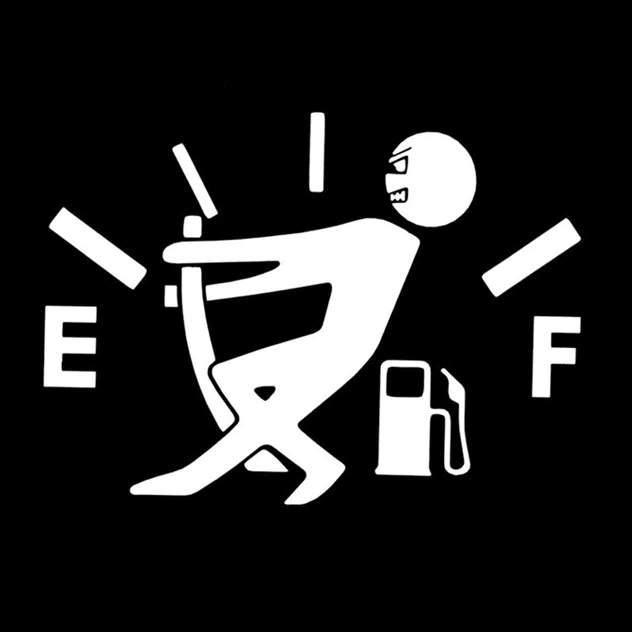 Funny Car Stickers High Gas Consumption Decal Fuel Gage Empty Stickers Car Stickers Car Styling Accessories-White
