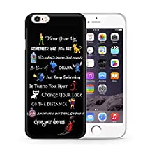 """iPhone 6/6s (4.7"""") Disney Quote Silicone Phone Case / Gel Cover for Apple iPhone 6S 6 (4.7"""") / Screen Protector & Cloth / iCHOOSE / Movie Lines"""