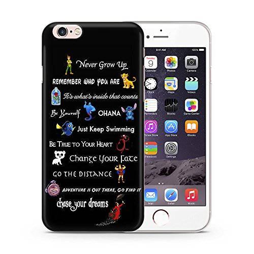 iPhone 5c Disney Quote Silicone Phone Case / Gel Cover for Apple iPhone 5C / Screen Protector & Cloth / iCHOOSE / Movie Lines