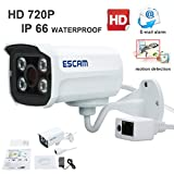 Escam Brick QD300 HD720P Waterproof Network IP Home Security Bullet Surveillance Camera 3.6mm Lens 15m Ir cut Support Day/Night