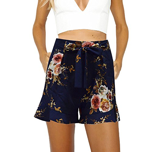 Women's Sexy Skirt Summer Floral Print Short Pants,KIKOY Girls Casual Shorts ()