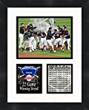 Cleveland Indians 22 Game Winning Streak 2017, 11 x 14 Matted Collage Framed Photos Ready to hang
