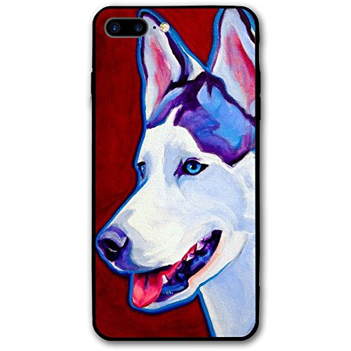 GVHQWZ IPhone 8 Plus Case, 7 Plus Case Sled Dog Siberian Husky Alaskan Malamute Hard Anti-Scratch &Fingerprint Non Slip PC Phone Case, 5.5 Inch Black (Husky Malamute Sled)
