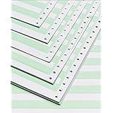 "Alliance Continuous Computer Paper 14-7/8"" x 8""-1/2"" with 1/2"" Green Bar 1-Part 92 Bright 20lb 2700 Sheets per Carton (9303)"