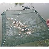 BeesClover Portable 6060cm Folding Fishing Net Network Shrimp Fish Net Casting Net Fishing Cage Outdoor Fishnet Show