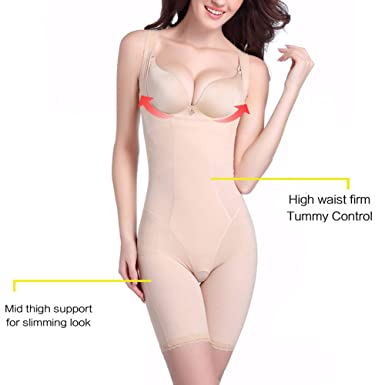 e88be544bc76f Women s Body Shaper High Waist Tummy Control Full Body Shapewear Corset  Bodysuit with Butt Compression Shorts