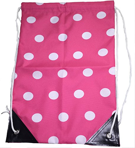 Dry Kids Spotty Draw String Bag Gymsack for PE, Swimming and Sport Raspberry Spots