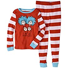 Dr. Seuss Thing 1 and Thing 2 Tight Fit Pajama 2-Piece Sleepwear Set