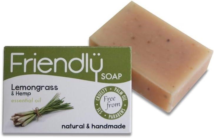 Friendly Soap Natural Handmade Lemongrass & Hemp Soap – 95g