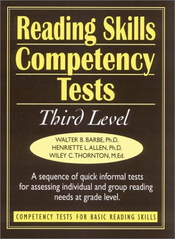 Reading Skills Competency Tests Third Level (J-B Ed: Ready-to-Use Activities)