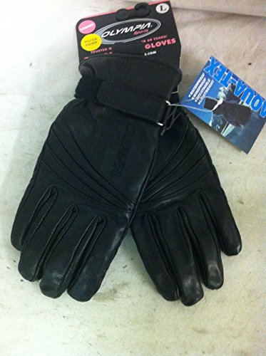 Ladies Olympia Performance Gel Black Leather Motorcycle Gloves Wrist LARGE (Olympia Gel)