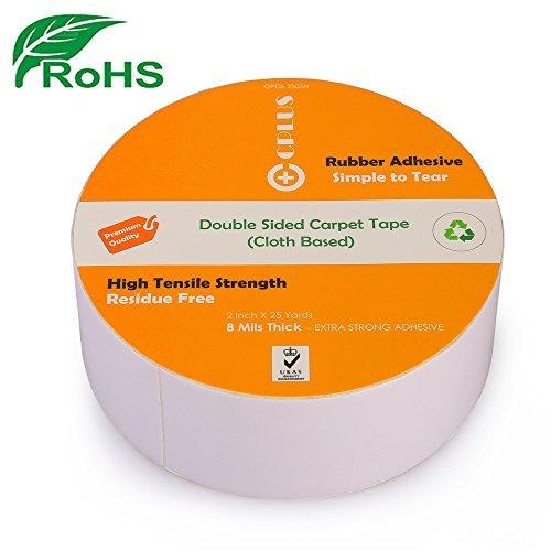 50% más grueso. Cinta adhesiva ecológica de doble cara – 5 cm x 2 m – multiusos extraíble antideslizante para interior...