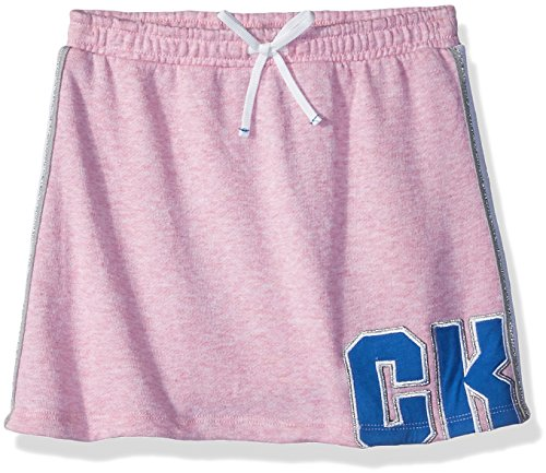 Calvin Klein Girls' Little Athleisure Skirt, Pink Heather, 5