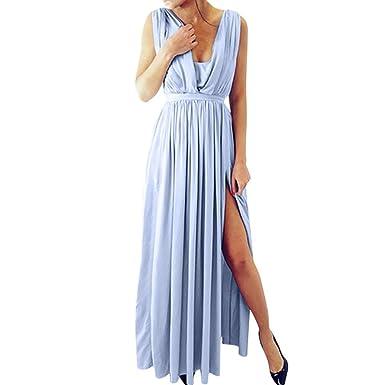 56c7dce3445e Fathoit Femme Robe Longue De CéRéMonie Chic Robe Ado Multi-Style Sexy  Taille Haute sans