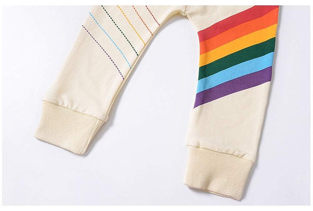 LOOLY Baby Boys Girls Rainbow Print Elastic Waist Pants