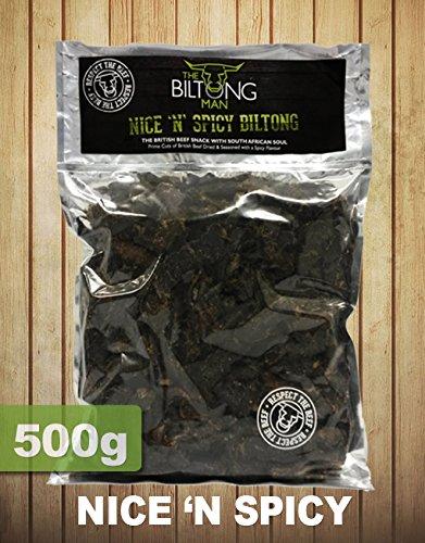 The Biltong Man (El Hombre de Biltong) rico y picante biltong (500g)