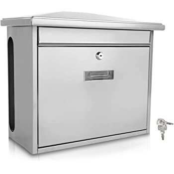 Amazon Com Serenelife Modern Wall Mount Lockable Mailbox