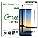Electronics : amFilm Galaxy Note 8 Screen Protector Glass (Full Screen Coverage)(Easy Installation Tray), Dot Matrix 3D Curved Samsung Galaxy Note 8 Tempered Glass Screen Protector 2017
