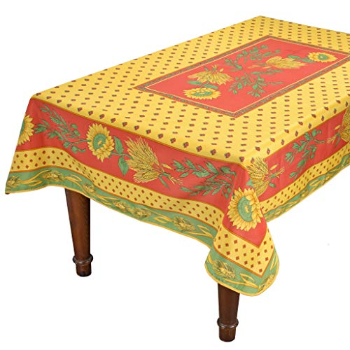 Tournesol Red/Yellow French Provencal Tablecloth - 59x90