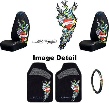 Ed Hardy Peacock Auto Car Truck SUV Accessories Interior Combo Kit Gift Set