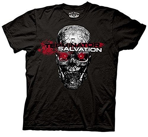 The Terminator Salvation Red Eyes Black T-shirt Tee (Eyes Salvation Terminator Red)