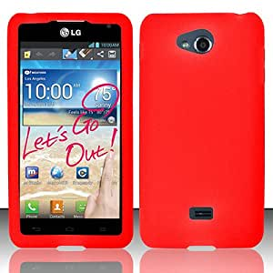 Red Soft Silicone Gel Skin Cover Case for LG Spirit 4G MS870