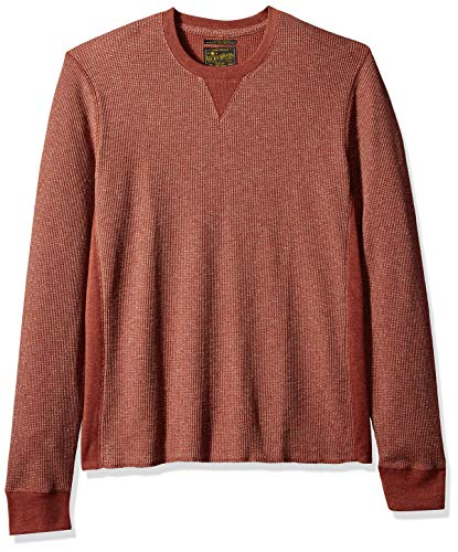 Lucky Brand Men's Fleck Thermal Crew Neck Shirt, red M